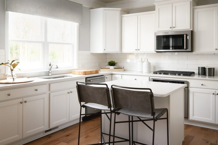 Devereaux Builder Model Kitchen, Residential Interior Design & Architecture, Commercial Photography by Daniel Green, Atlanta, GA